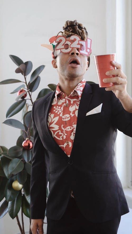 Man Celebrating New Year