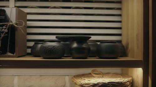 Set of Black Pots