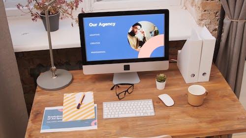 Work Desk with Desktop Computer