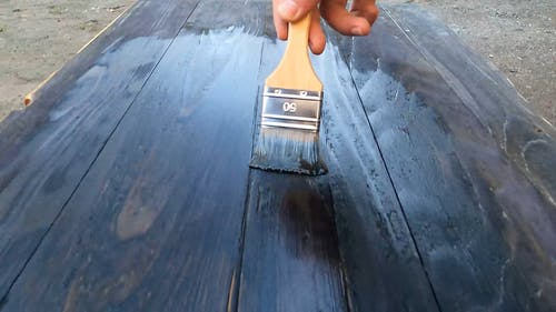 Painting a Piece of Wood