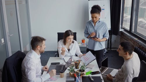 Office Team Having a Meeting