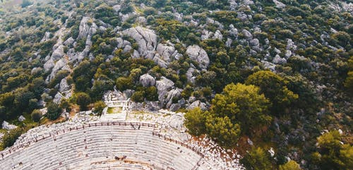 Drone Footage of Amphitheater
