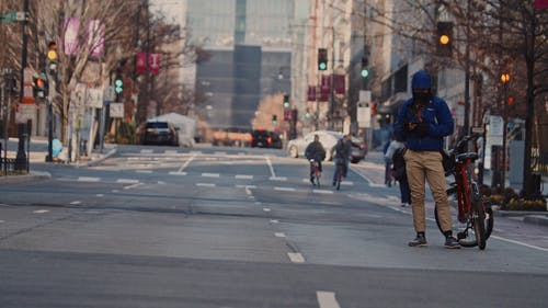 Cyclist in the City