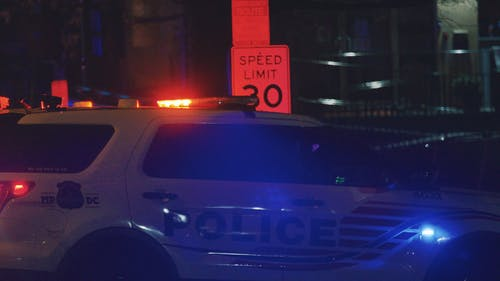 Police Vehicles at Night