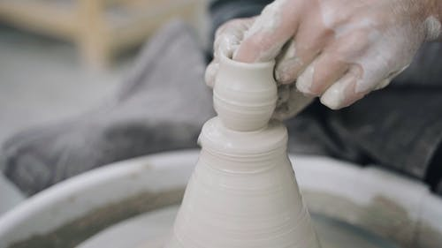 Person Using a Potter's Wheel