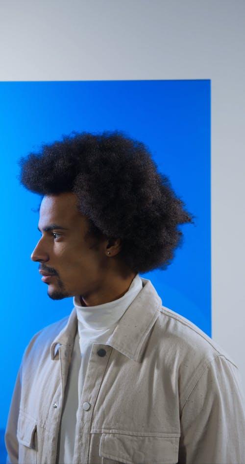 Man Showing Facial Expression
