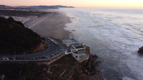 Aerial Shot of the Sea Shore
