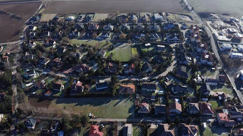 A Drone Footage of Houses