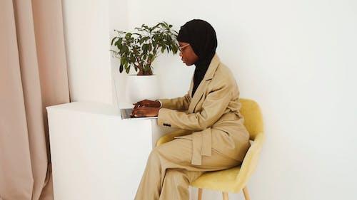 Woman in a Laptop