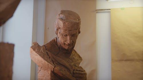 Head Sculpture In Clay