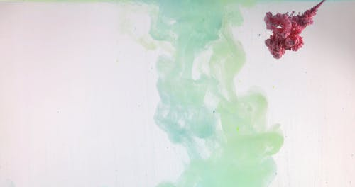 A Multicolored Liquid Paint in Water