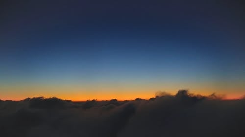 View of the Sky from the Clouds