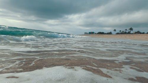 Closeup Video of Crashing Waves