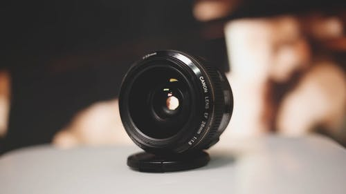 A Close-Up Video of a Camera Lens