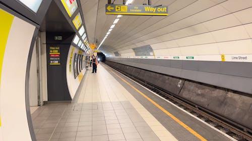Underground Train Arriving at Platform
