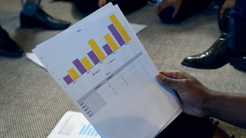 Business Analytics Presentation In A Business Meeting