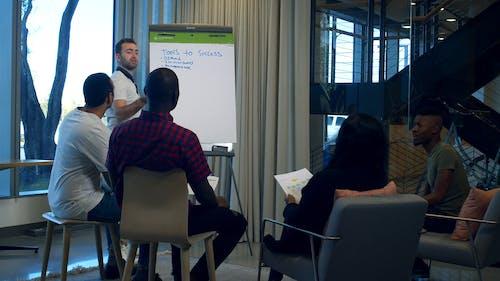 Businessmen Brainstorming In A Meeting