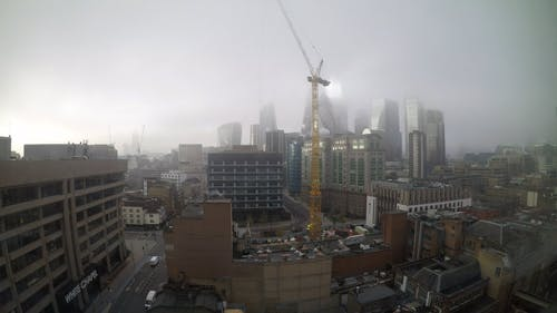 Time-Lapse Video of City Under Cloudy Sky