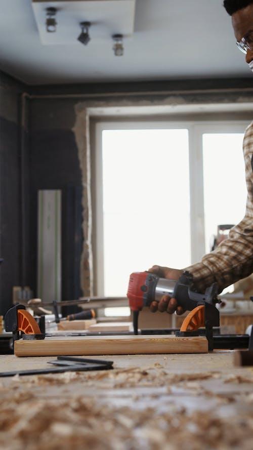Carpenter Working in the Workshop