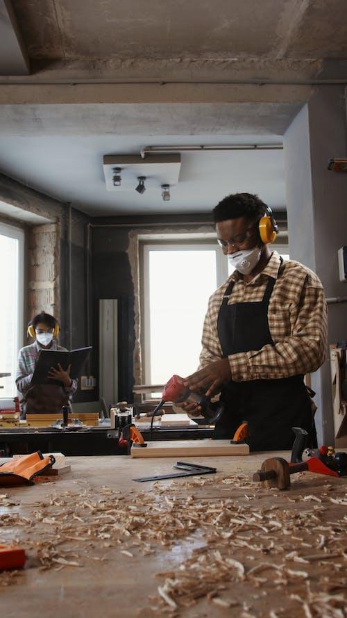 People Doing Wood Works