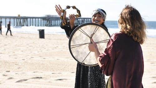 Women Doing a Ritual on the Beach