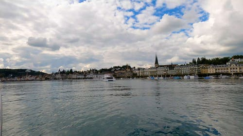 Lake Zurich Shot from Boat