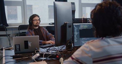 Working Men in the Office