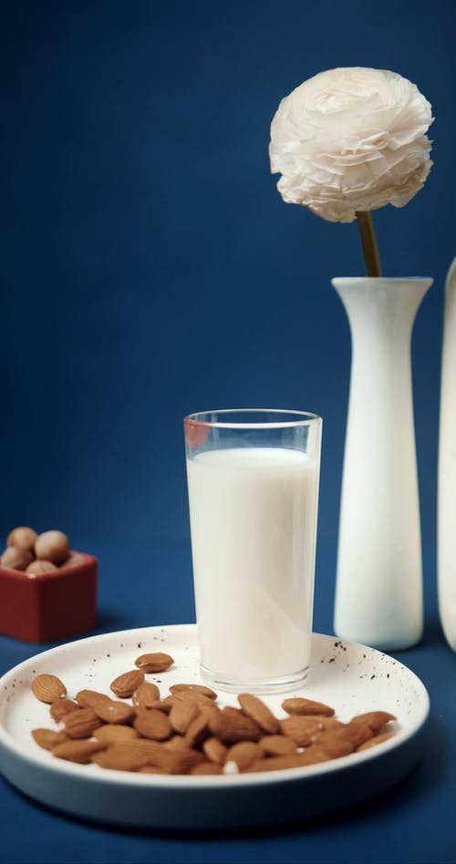Mockup of Various Kinds of Milk Made with Nuts