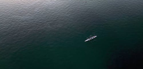 Drone Shot of People Boating in the Sea