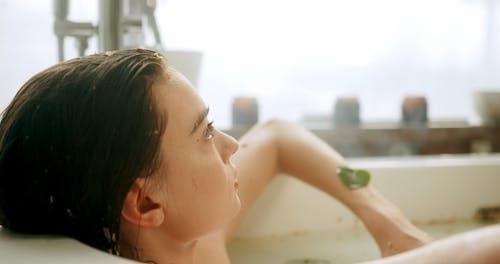 A Woman Having a Hot Bath
