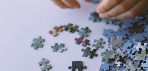 A Person Holding a Puzzle Pieces