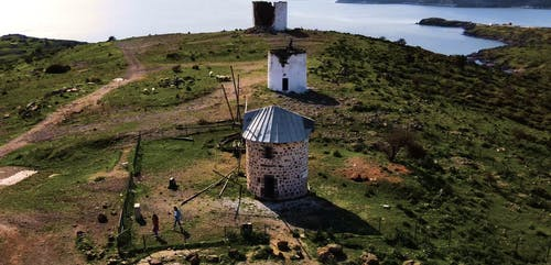 Drone Footage of a Dilapidated Windmill