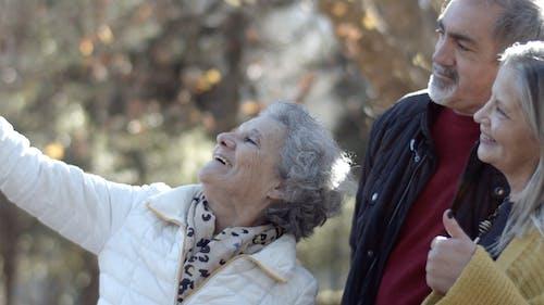 Elderly People Taking a Groupie Photo