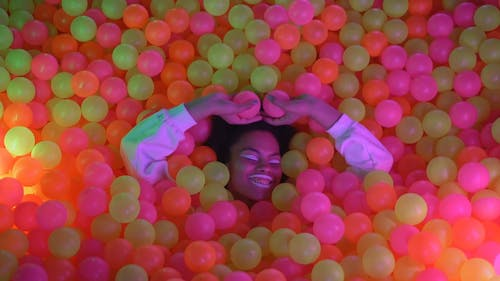 Woman in a Ball Pit