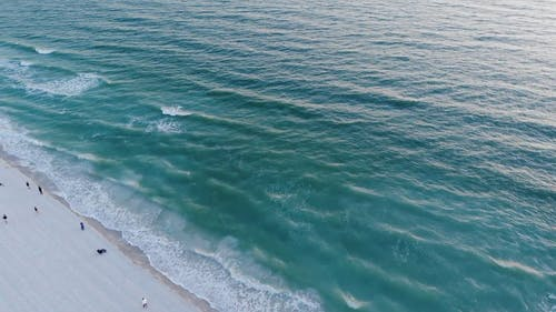 Aerial of the Shoreline and Horizon
