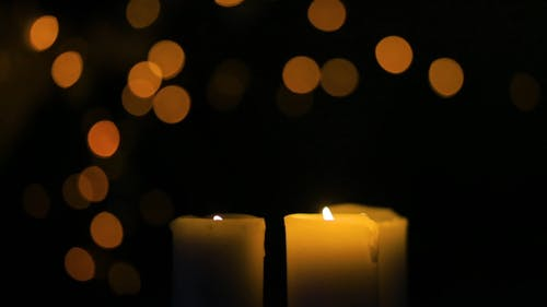 Close-Up View of  Lighted Candles