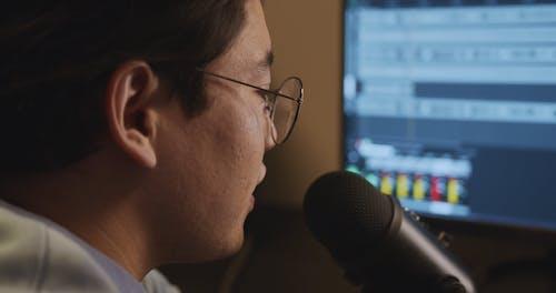 Man Doing Audio Recording