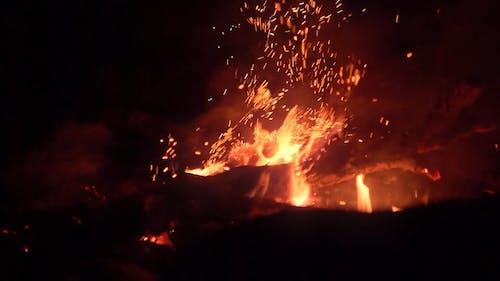 Close-Up Video of a Bonfire