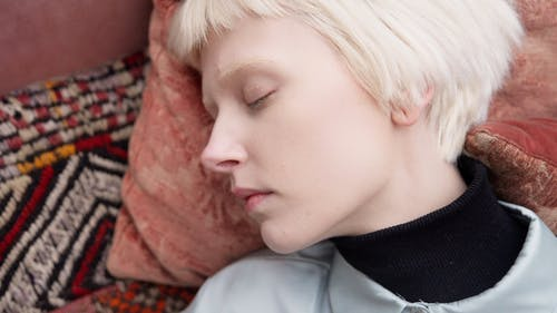 A Close-up of a Woman Sleeping