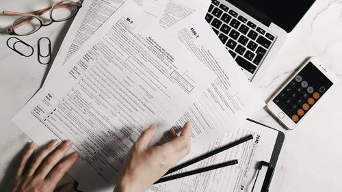 Person Preparing Tax Forms