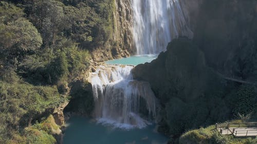 Aerial Shot of a Water Falls