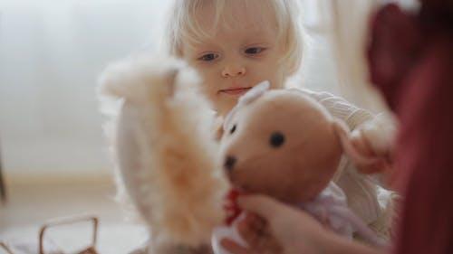 Children Playing Stuffed Toys