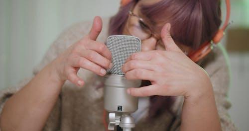 Woman Recording ASMR Video