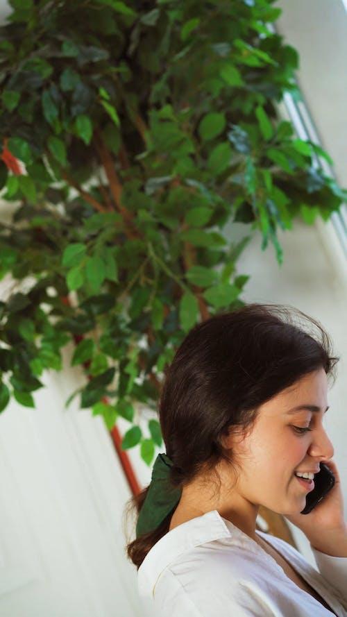 A Woman Having a Phone Call