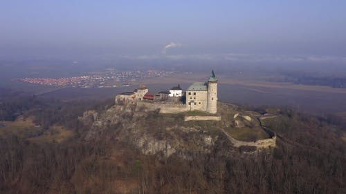 Drone Footage of Kuneticka Mountain Castle