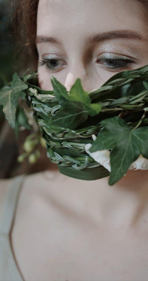 Woman Wearing a Stylish Mask