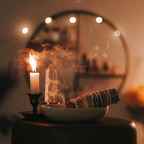 Aromatherapy with a Burning Candle