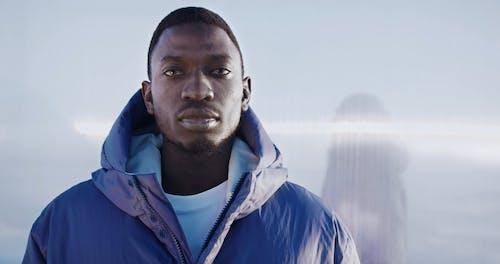 Man Posing In Winter Jacket