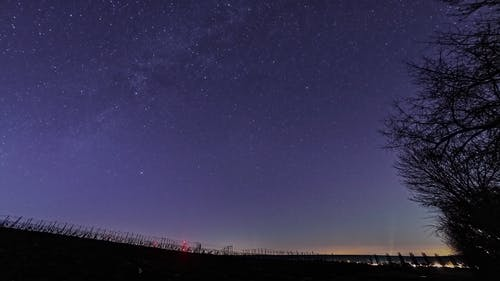 Time Lapse Video of Evening Sky and Shooting Stars