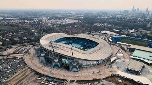 Drone Shot of Etihad Stadium